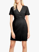 French Connection Whisper Wrap Mini Dress, Black