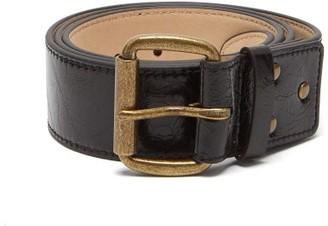 Acne Studios Atticus Crackled-leather Belt - Black