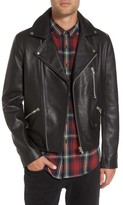 Topman Men's Staines Leather Moto Jacket