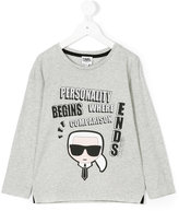Karl Lagerfeld long-sleeve Karlito T-shirt