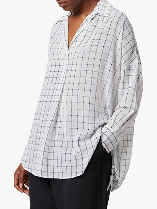 French Connection Aoko Ayn Check Shirt, Summer White