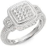 Judith Ripka Natalie White Sapphire & Sterling Silver Pavé Step Ring