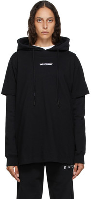 Off-White Black Double T-Shirt Barrel Hoodie
