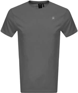 G Star Raw Lash Logo T Shirt Grey