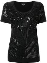 Just Cavalli bead embroidered blouse