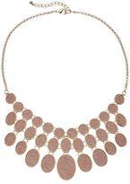 Apt. 9 Pink Glitter Oval Statement Necklace