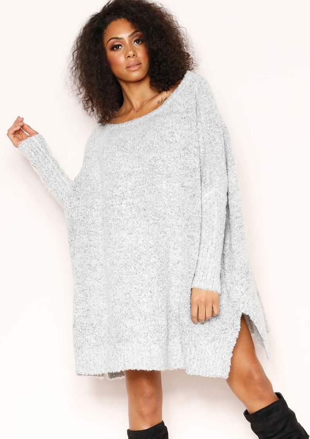 0bbfbb8fa05ee1 Grey Knit Jumper Dress - ShopStyle UK