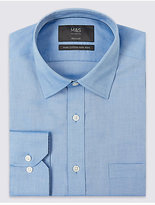 M&S Collection 2in Longer Pure Cotton Non-Iron Oxford Shirt