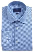 David Donahue Trim Fit Pattern Dress Shirt