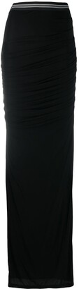 Vera Wang High-Waist Long Fitted Skirt
