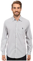 U.S. Polo Assn. Long Sleeve Slim Fit Dobby Stripe Sport Shirt