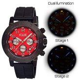 Equipe Tritium Tube Men's Circle Watch Primary Color: Black /