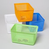 STORAGE BASKET SQUARE SLOTTED 4 COLORS IN PDQ #GLORY 102, Case Pack of 36