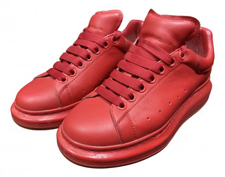 Alexander McQueen Oversize Red Leather Trainers