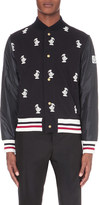Moncler Gamme Bleu Duck embroidered cotton bomber jacket