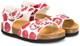 MonnaLisa strawberry sandals - kids - Leather/rubber - 20