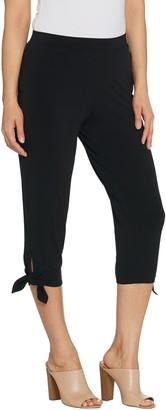 Susan Graver Every Day by Petite Liquid Knit Capri Pants
