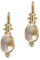 Temple St. Clair Classic Rock Crystal & 18K Yellow Gold Amulet Drop Earrings