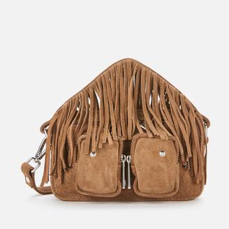 Nunoo Women's Helena Suede Fringe Cross Body Bag - Tan