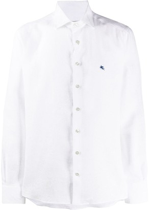 Etro Embroidered Logo Curved Hem Shirt