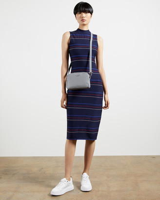 Ted Baker ERLO Striped sleeveless midi dress