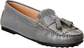 Tod's Fringe Tassel Leather Loafer