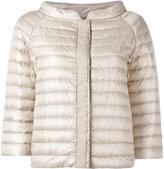 Herno collarless puffer jacket - women - Cotton/Polyamide/Polyester/Goose Down - 44