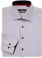 Levinas Contemporary-Fit Chevron Dress Shirt