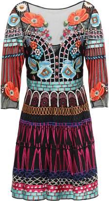 Temperley London Embroidered Silk-blend Tulle Mini Dress