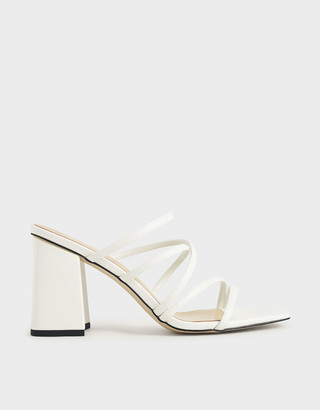 Charles & Keith Strappy Chunky Heel Mules
