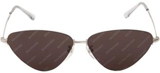 Balenciaga Bb0015s Cat Eye Metal Sunglasses