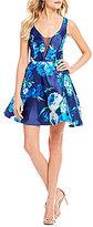 B. Darlin Floral Print Fit-And-Flare Dress