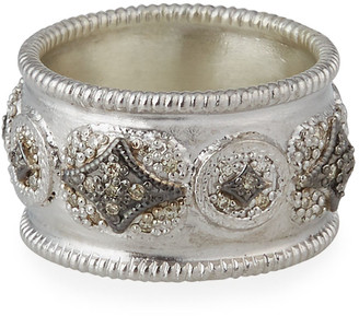 Armenta New World Diamond Crivelli Wide Band Ring, Size 6.5 & 7