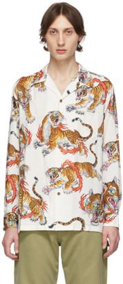 Wacko Maria White and Multicolor Tim Lehi Edition Hawaiian Shirt