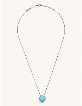 Van Cleef & Arpels Perlee Couleur white-gold and turquoise necklace