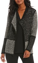Calvin Klein Marled Colorblock Open Front Cardigan