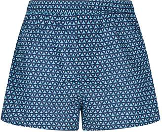 Derek Rose Triangle Print Cotton Boxer Shorts