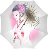 Geisha Girl Umbrella Design Custom Japanese Geisha Girl Art Folding Portable Outdoor Rain /Sun Umbrella Beach Travel Shade Sunscreen For Women/Men