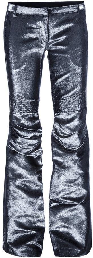 Balmain metallic flared trouser