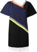 Christopher Kane loop trim short sleeve dress