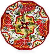 Espana Bocca Red Scalloped Salad Plate