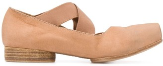 UMA WANG Crossed Strap Ballerinas