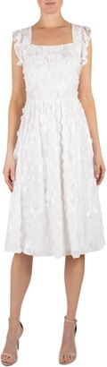 Julia Jordan Romantic Floral Applique Fit & Flare Dress