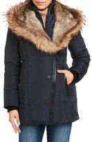 Rudsak Real Fur Trim Hooded Down Coat