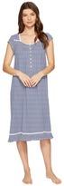 Eileen West Cotton Stripe Waltz Nightgown Women's Pajama