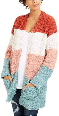 Hippie Rose Juniors' Cozy Colorblocked Cardigan