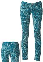 Mudd feather skinny jeans - juniors