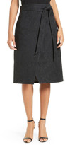 Ted Baker Soloaa Jacquard Faux Wrap Skirt
