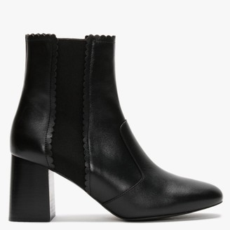 See by Chloe Maddie Black Leather Heeled Ankle Boots
