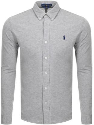 Ralph Lauren Featherweight Mesh Shirt Grey